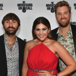 NASHVILLE, TN - AUGUST 09:  Recording Artists Dave Haywood, Hillary Scott and Charles Kelley of Lady Antebellum arrive at Hard Rock Cafe Nashville on August 9, 2016 in Nashville, Tennessee.  (Photo by Jason Davis/Getty Images for Musicians On Call)