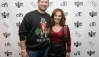 NEW YORK, NY - DECEMBER 08:  President at Musicians On Call Pete Griffin (L) and news anchor Rosanna Scotto attend the Musicians On Call Deck The Halls Holiday Sweater Party at Kola House on December 8, 2016 in New York City.  (Photo by Donald Bowers/Getty Images for Pepsi)