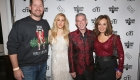 NEW YORK, NY - DECEMBER 08:  (L-R) President at Musicians On Call Pete Griffin, singer Ellie Goulding, Elvis Duran, and Rosanna Scotto attend the Musicians On Call Deck The Halls Holiday Sweater Party at Kola House on December 8, 2016 in New York City.  (Photo by Donald Bowers/Getty Images for Pepsi)