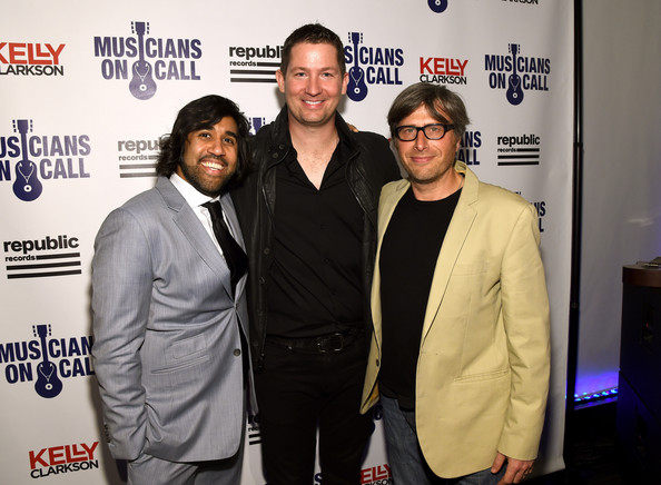 Founders Michael Solomon and Vivek Tiwary with MOC President Pete Griffin