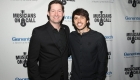 LOS ANGELES, CA - FEBRUARY 28:  Pete Griffin, Musicians On Call President and Morgan Evans attend the Musicians On Call 5th Anniversary Celebration in Los Angeles Delivering The Healing Power of Music on February 28, 2018 in Los Angeles, California.  (Photo by Jesse Grant/Getty Images for Musicians On Call )